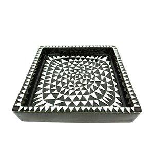 Bandeja Domino de cerámica de Stig Lindberg para Gustavsberg, años 50
