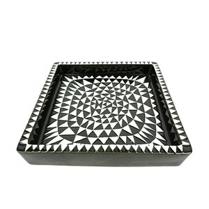 Domino Ceramic Tray by Stig Lindberg for Gustavsberg, 1950s