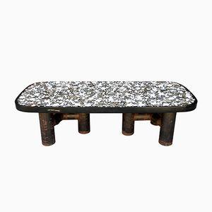 Table Basse Inscrustée Marbre par Etienne Allemeersch, 1970s