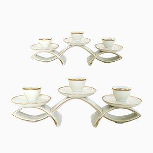 Keramik Kerzenständer von Hutschenreuther, 1940er, 2er Set