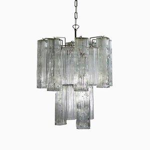 Lámpara de araña vintage de cristal de Murano de Murano