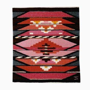 Tapiz danés textil de Mette Birckner, años 80