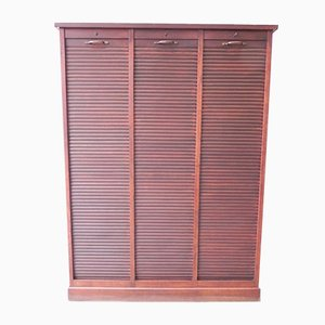 Vintage Oak Shutter Cupboard with 3 Doors
