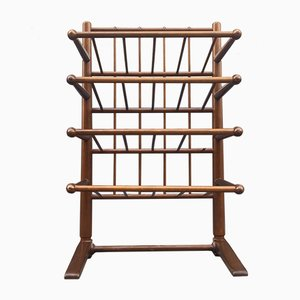 Danish Cherry Rack with Drumstick Detailing by Frits Henningsen for Andreas Tuck, 1940s
