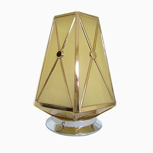 Art Deco Ceiling Lamp with Hexagonal Sphere