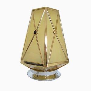 Lampada da soffitto Art Deco con paralume esagonale