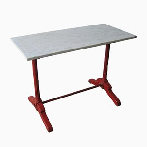 French Oak and Marble Bistro Table