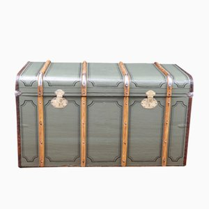 Large Steamer Trunk in Canvas and Leather from RBD, 1920s