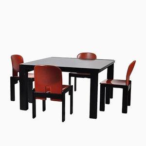 Table Model 778 Vintage & Quatre Chaises Model 121 par Tobia Scarpa pour Cassina