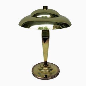 Französische Vintage Art Deco Tischlampe aus Messing