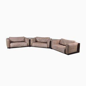 Juego de sofás modulares vintage de Cini Boeri para Knoll