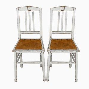 Französische Jugendstil Esszimmerstühle, 1900er, 2er Set