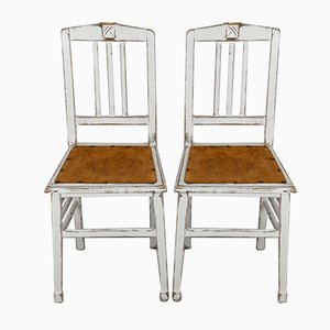 French Art Nouveau Dining Chairs, 1900s, Set of 2