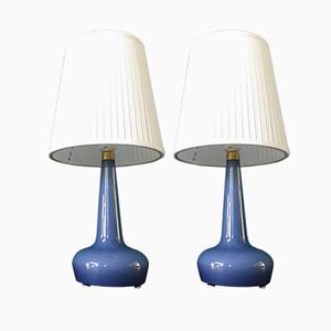 Vintage Danish Model 311 Table Lamps by Esben Klint for Holmegaard, Set of 2