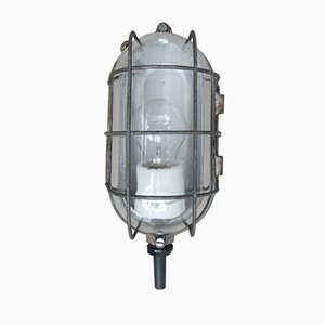 Graue Industrielle Mid-Century Decken- oder Wandlampe