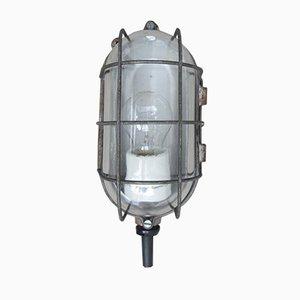 Lámpara de pared o de techo industrial Mid-Century gris