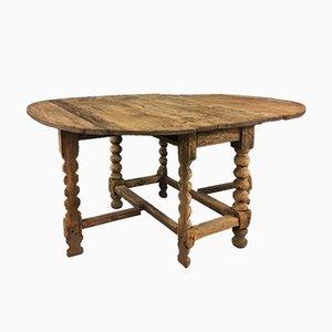 Schwedischer Ovaler Kiefernholz Gateleg Tisch, 18. Jh.