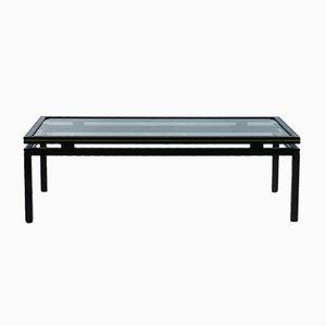 Table Basse Vintage en Laiton & Chrome par Pierre Vandel