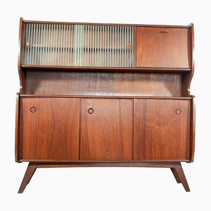 Mid-Century Dutch Teak Highboard