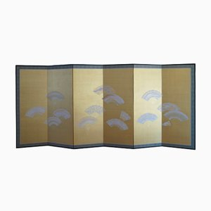 Meiji Showa Period Japanese Six-Panel Folding Screen