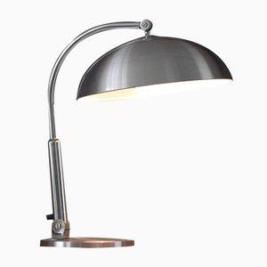 Silberfarbene Niederländische Schreibtischlampe von H.Busquet für Hala Zeist