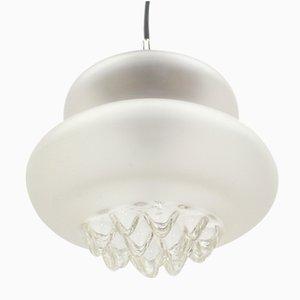 Lampada a sospensione in vetro opalino di Peill & Putzer, anni '60