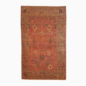 Alfombra Loristan india antigua hecha a mano, década de 1880