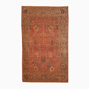 Antiker Handgeknüpfter Indischer Loristan Teppich, 1880er