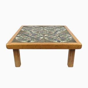 Mesa de centro con tablero de cerámica de Pinson, años 60