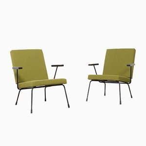 Gispen 1407 Easy Chairs by Wim Rietveld for Gispen, 1950s, Set of 2