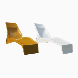 Mid-Century Fibreglass Sun Loungers, 1960s, Set of 2