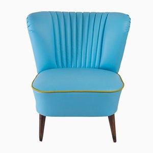 Chaise Cocktail en Faux Cuir Bleu, 1971