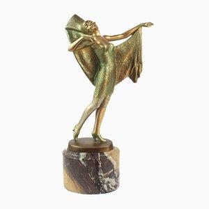 Figura Art Déco in bronzo di Lorenzl, Austria, anni '20