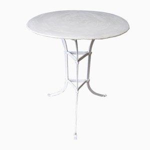 Tavolo da giardino in acciaio con superficie rotonda, anni '30