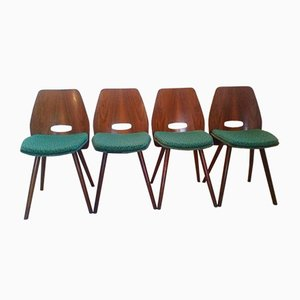 Art Deco Beech Dining Chairs from Tatra Pravenec, 1960s, Set of 4