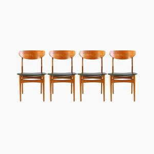 Danish Teak Dining Chairs with Skai, 1960s, Set of 8