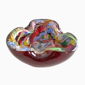 Vintage Tutti Frutti Murano Glas Schale von A.Ve.M., 1960er