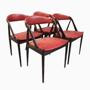 Vintage Modell 31 Esszimmerstühle von Kai Kristiansen für Schou Andersen, 1960er, 4er Set