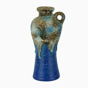 Modell 647/30 Vase aus Blauer, Brauner und Weißer Fat Lava Glasur von Dümler & Breiden, 1960er