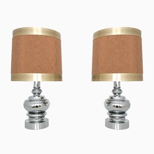Lámparas de mesa vintage de Hustadt Leuchten. Juego de 2