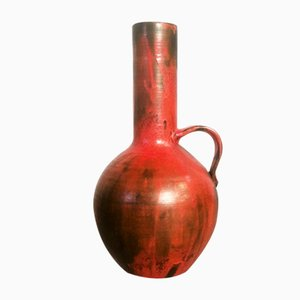 German Studio Ceramic Floor Vase, 1960s