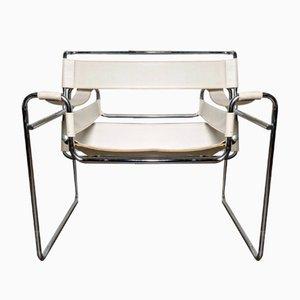 Weißer Vintage Wassily Sessel von Marcel Breuer