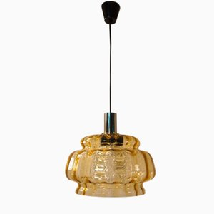 Mid-Century Swedish Textured Glass Pendant by Carl Fagerlund for Orrefors