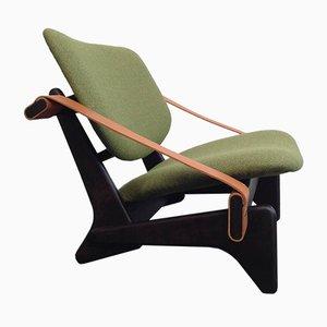 Chaise à Dossier Bas Jumbo 174 Verte par Olof Ottelin, 1950s