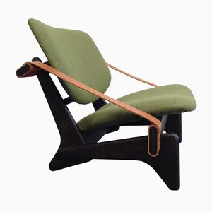 Jumbo 174 Green Low Chair by Olof Ottelin, 1950s