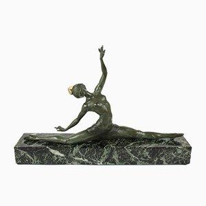 Französische Art Deco Skulptur von J. P. Morante für Marcel Guillemard, 1920er