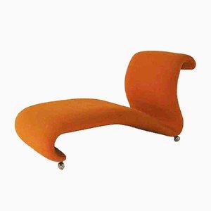 Chaise Longue Mid-Century en naranja de Verner Panton para Storz & Palmer, años 60