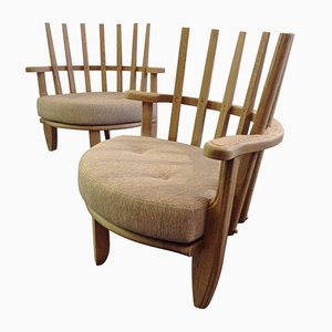 Mid-Century Easy Chairs by Guillerme et Chambron, 1960s, Set of 2