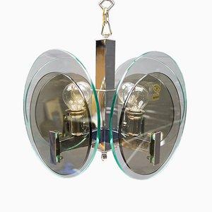 Lámpara de techo italiana de Lupi Cristal Luxor, años 60