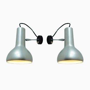 Lámparas de pared modelo 7 vintage de Gino Sarfatti para Arteluce. Juego de 2